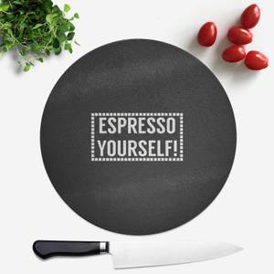Expresso Yourself Round Chopping Board