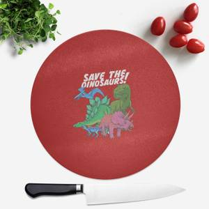 Save The Dinosaurs Round Chopping Board