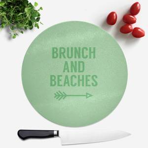 Brunch And Beaches Round Chopping Board