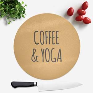 Coffee And Yoga Round Chopping Board