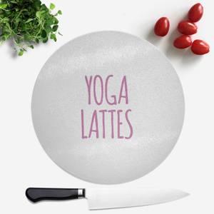 Yoga Lattes Round Chopping Board