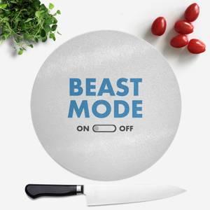 Beast Mode On Round Chopping Board