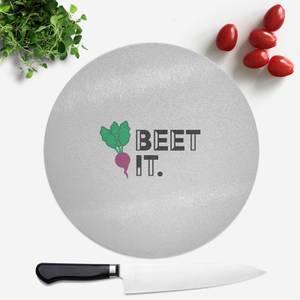 Beet It Round Chopping Board