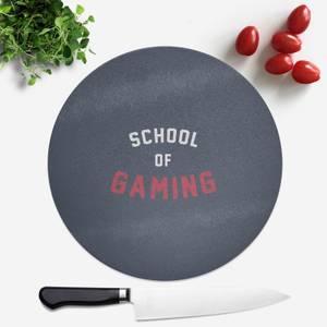 School Of Gaming Round Chopping Board