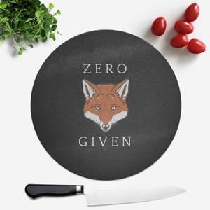 Zero Fox Given Round Chopping Board