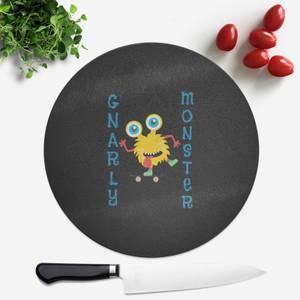 Gnarly Monster Round Chopping Board
