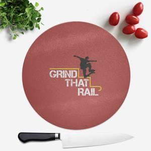 Grind That Rail Round Chopping Board