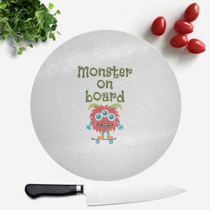 Monster On Board Round Chopping Board