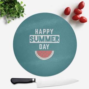 Happy SUmmer Day Round Chopping Board