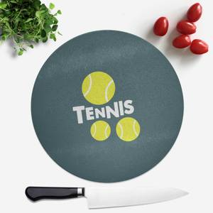 Tennis Balls Round Chopping Board