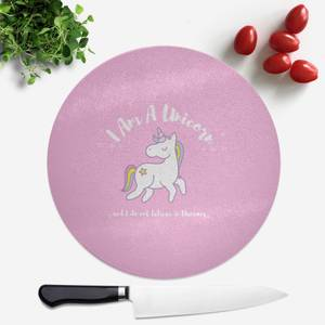 I Am A Unicorn Round Chopping Board