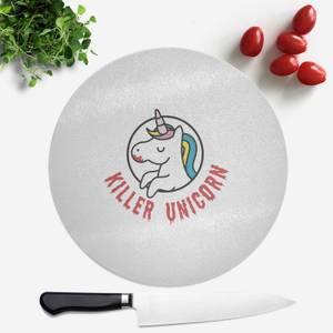 Killer Unicorn Round Chopping Board