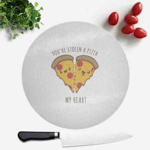 A Pizza My Heart Round Chopping Board