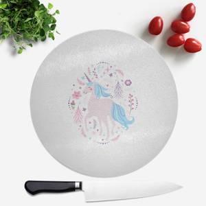 Pink Unicorn Round Chopping Board