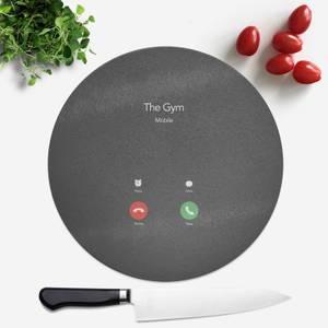 Gym Calling Round Chopping Board