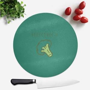 Broccoholic Round Chopping Board