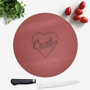 Love Carbs Round Chopping Board