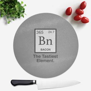 Bacon Element Round Chopping Board