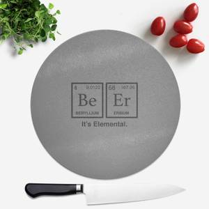 Be Er It's Elemental Round Chopping Board