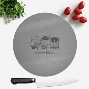 Heavy Metal Round Chopping Board