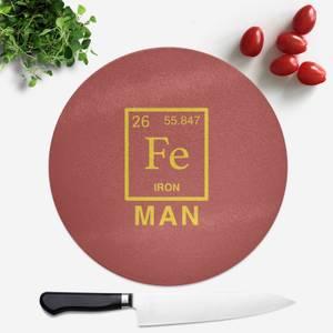 Fe Man Round Chopping Board