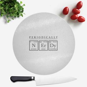 Periodically Nerdy Round Chopping Board