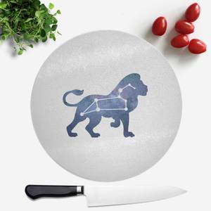 Pressed Flowers Leo Round Chopping Board