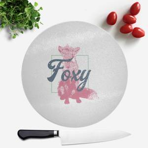 Pressed Flowers Foxy Round Chopping Board