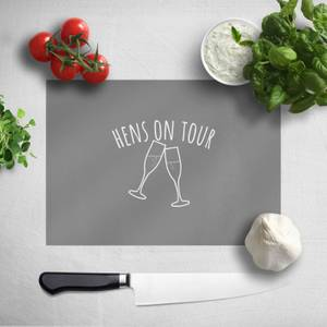 Hen's On Tour Chopping Board