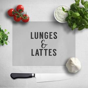 Lunges And Lattes Chopping Board