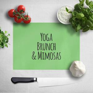 Yoga Brunch And Mimosas Chopping Board