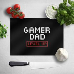 Gamer Dad Level Up Chopping Board