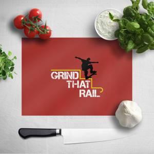 Grind That Rail Chopping Board