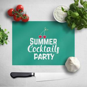 Summer Cocktails Party Chopping Board