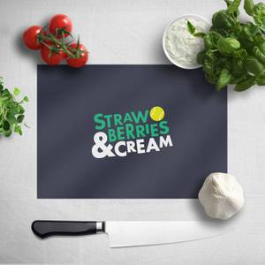 Strawberries And Cream Chopping Board
