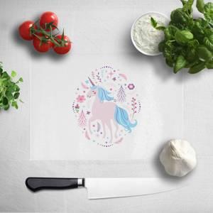 Pink Unicorn Chopping Board