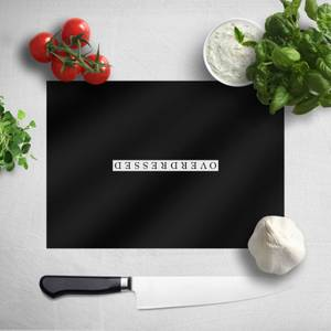 Overdressed White Chopping Board