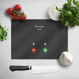 Gym Calling Chopping Board