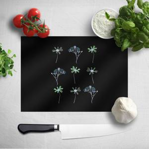 Pressed Flowers Inverted Trio Flower Print Chopping Board