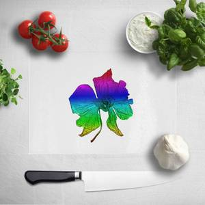 Pressed Flowers Ombre Rainbow Flower Chopping Board