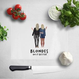 Pressed Flowers Blondes Do It Better Chopping Board