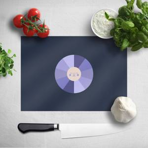Pressed Flowers Colours Of The Night Chopping Board