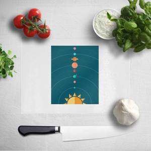 Pressed Flowers Planetary Alignment Chopping Board