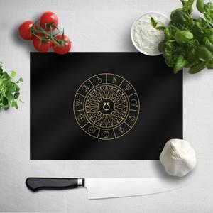 Pressed Flowers Decorative Planet Symbols Chopping Board