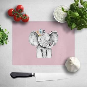 Pressed Flowers Indie Elephant Chopping Board