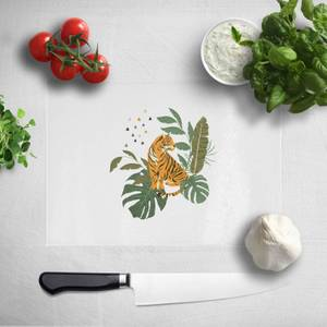 Pressed Flowers Majestic Queen Chopping Board