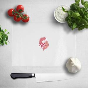 Pressed Flowers This Rage Inside My Head Pocket Print Chopping Board