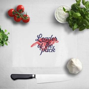 Pressed Flowers Leader Of The Pack Chopping Board