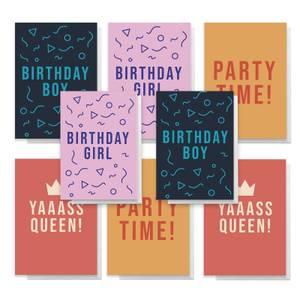 Slogan Pack Of Greetings Cards