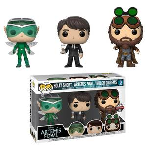 Disney Artemis Fowl - Funko Pop! Vinyl Holly, Artemis and Mulch EXC Vinyl 3-Pack
